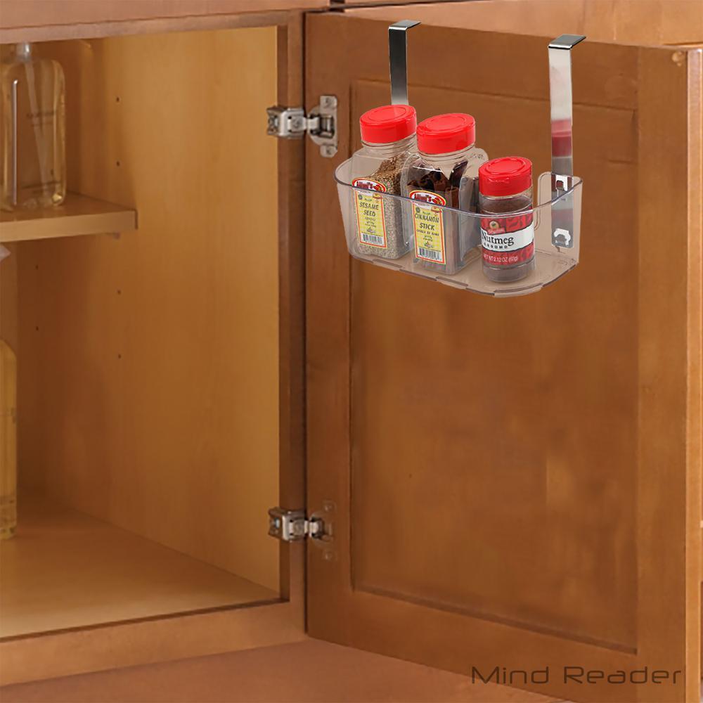 Clear Acrylic Storage Suction Shelf with Hooks