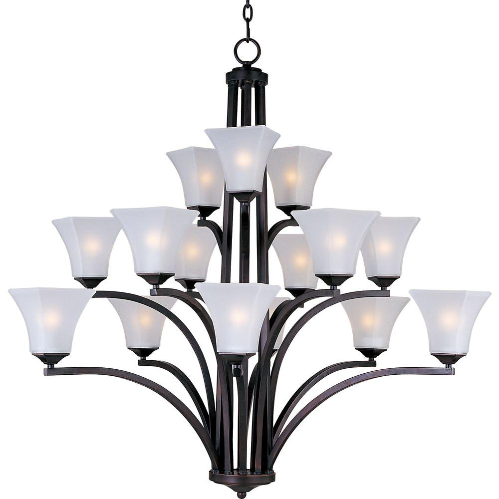 Aurora 15-Light Oil Rubbed Bronze Multi-Tier Chandelier