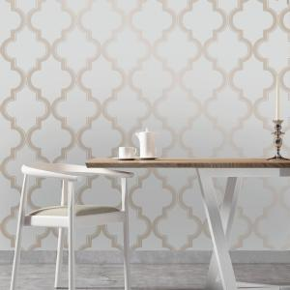 Tempaper Bronze Grey Marrakesh Wallpaper MA083