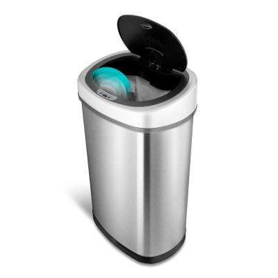 13.2 Gal. Stainless Steel Motion-Sensing Touchless Infrared Trash Can
