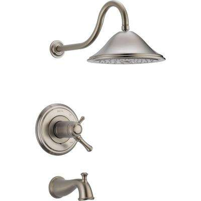 Cassidy TempAssure 17T Series 1-Handle Tub and Shower Faucet Trim Kit Only in Stainless (Valve Not Included)