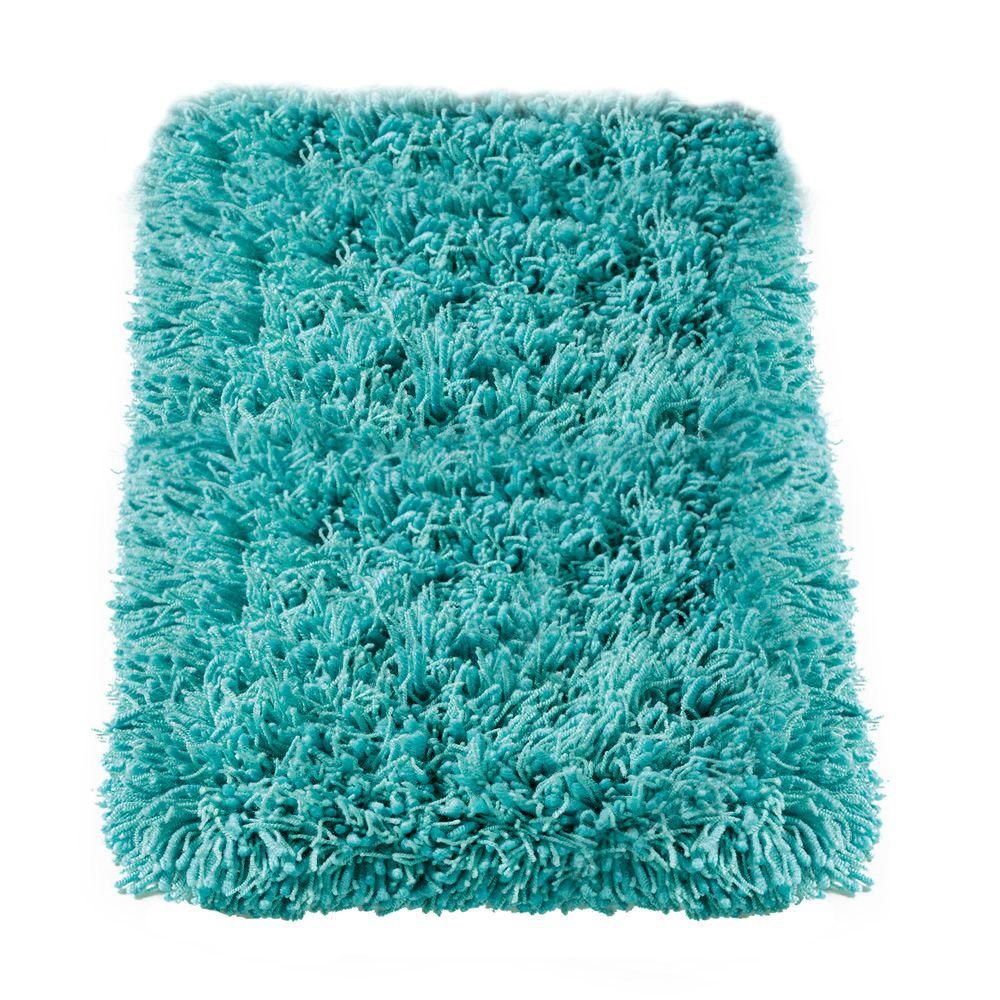 Home Decorators Collection Ultimate Shag Turquoise 6 ft. x 9 ft. Area Rug
