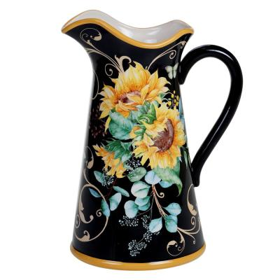 Sunflower Fields 96 oz. Multicolored Pitcher