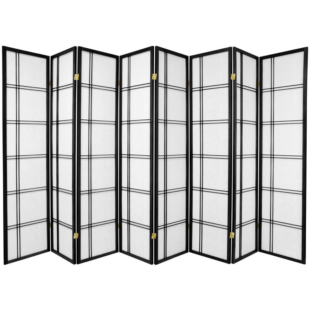 Black 8 Panel Room Divider