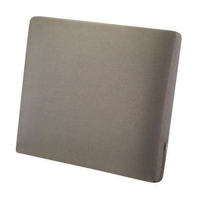 Ravenna 25 in. W x 22 in. D x 4 in. Thick Dark Taupe Outdoor Lounge Chair Back Cushion