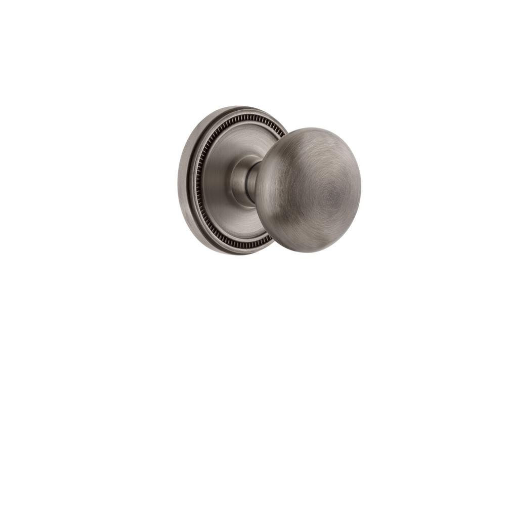 Grandeur Soleil Rosette Dummy With Fifth Avenue Antique Pewter Door Knob