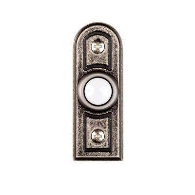 Wired Lighted Door Bell Push Button, Antique Pewter