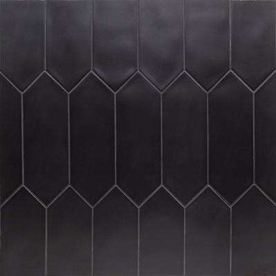 Russell Black 4 in. x 12 in. 10 mm Matte Porcelain Subway Floor and Wall Tile (40 pieces 10.76 sq. ft. / Box)
