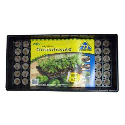 72 Peat Pellet Professional Greenhouse with Plant Labels Starter Kit