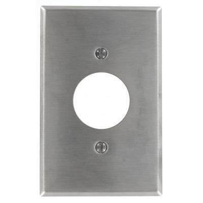 1-Gang Midway Size-Single Receptacle Wall Plate in Stainless Steel