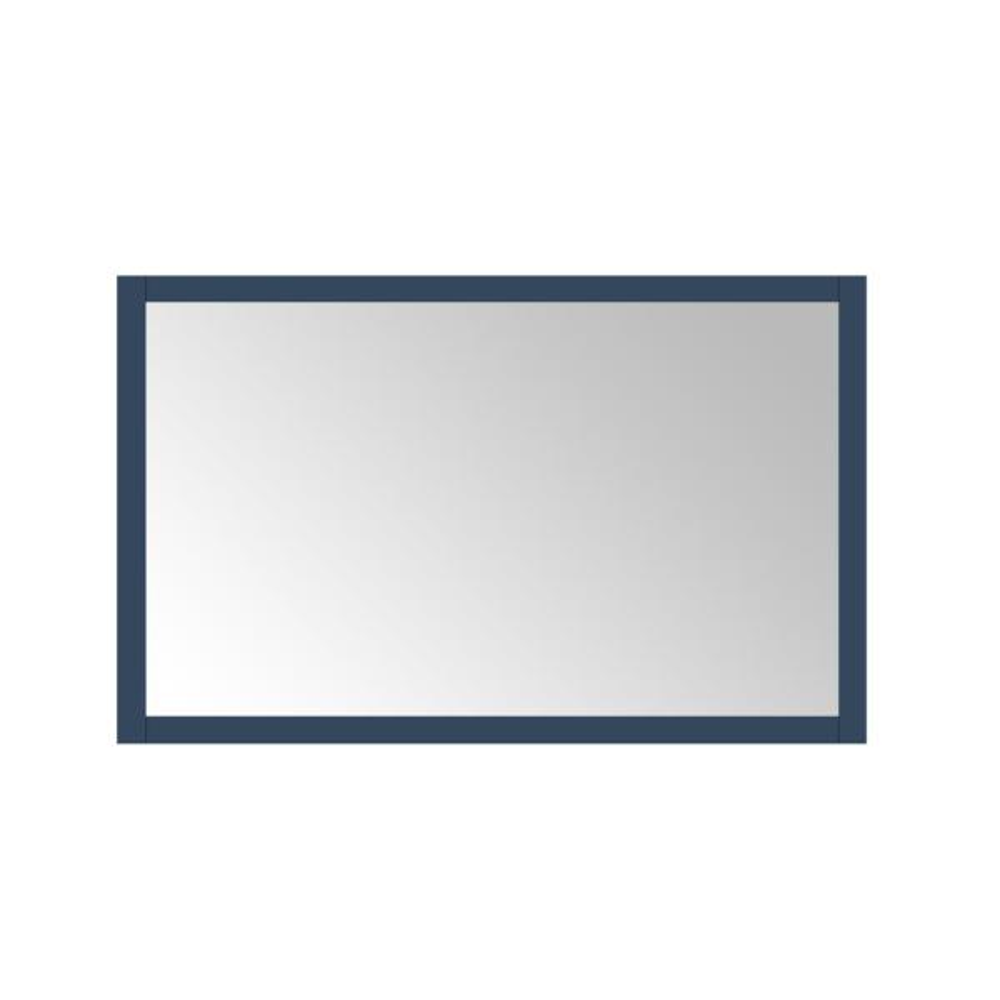 Madsen 48 in. W x 30 in. H Framed Rectangular Bathroom Vanity Mirror in Grayish Blue