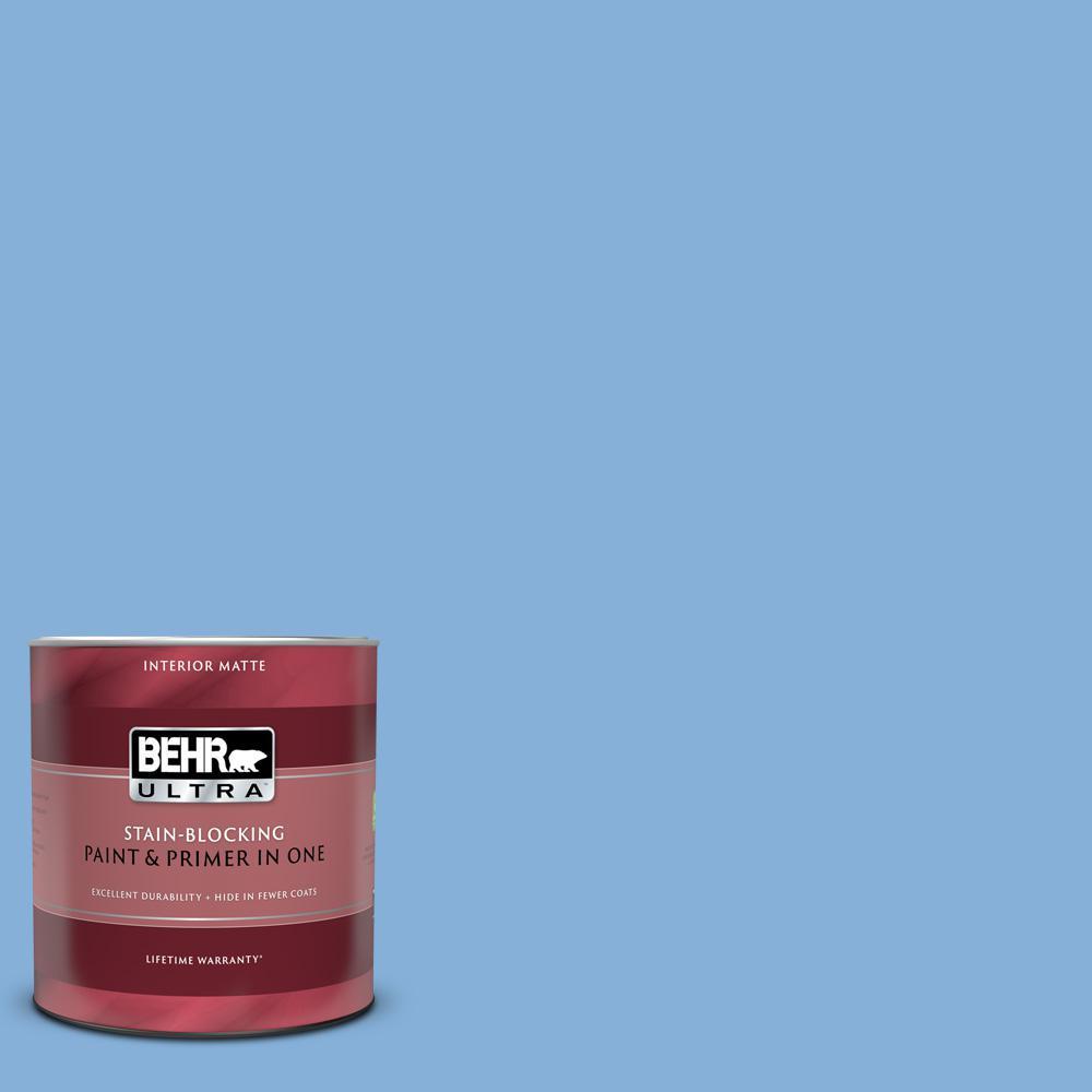 1 qt. #PPU15-12 Bluebird Matte Interior Paint and Primer in One