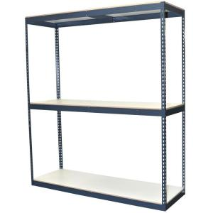 Storage Concepts 96 inch H x 72 inch W x 24 inch D 3-Shelf Bulk Storage Steel Boltless Shelving Unit w/Double... by Storage Concepts