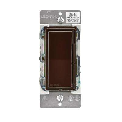 Decora 600-Watt Single-Pole/3-Way Universal Rocker Slide Dimmer, Brown
