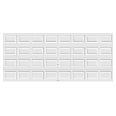 Classic Collection 16 ft. x 7 ft. 12.9 R-Value Intellicore Insulated Solid White Garage Door