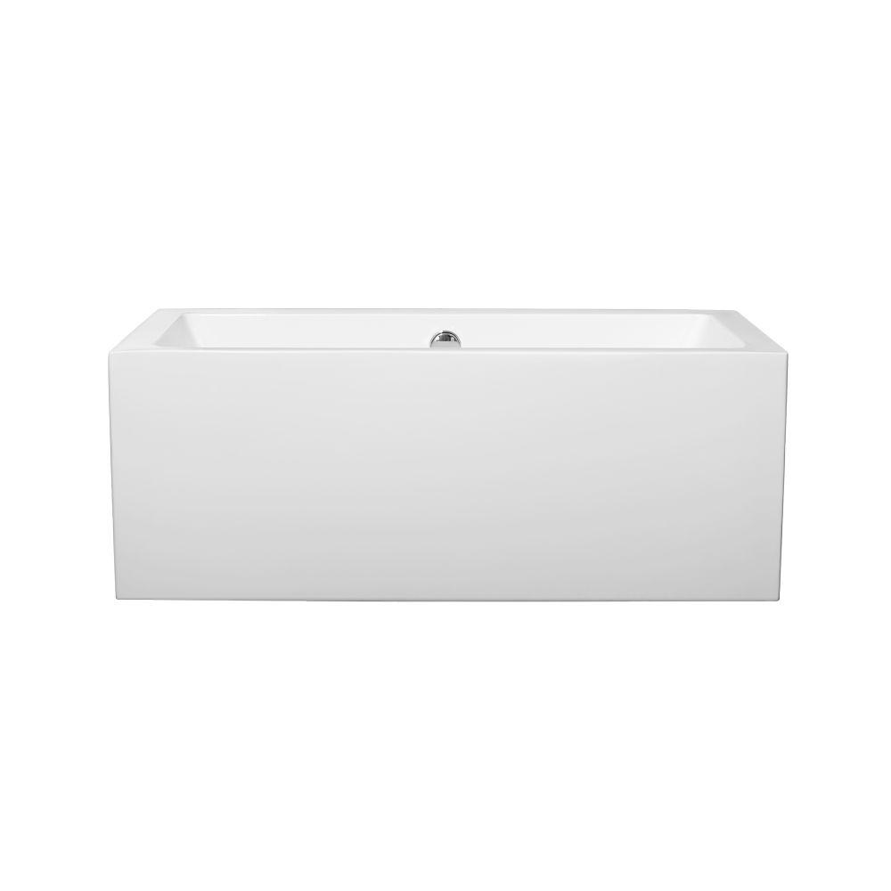 Melody 5 ft. Center Drain Soaking Tub in White