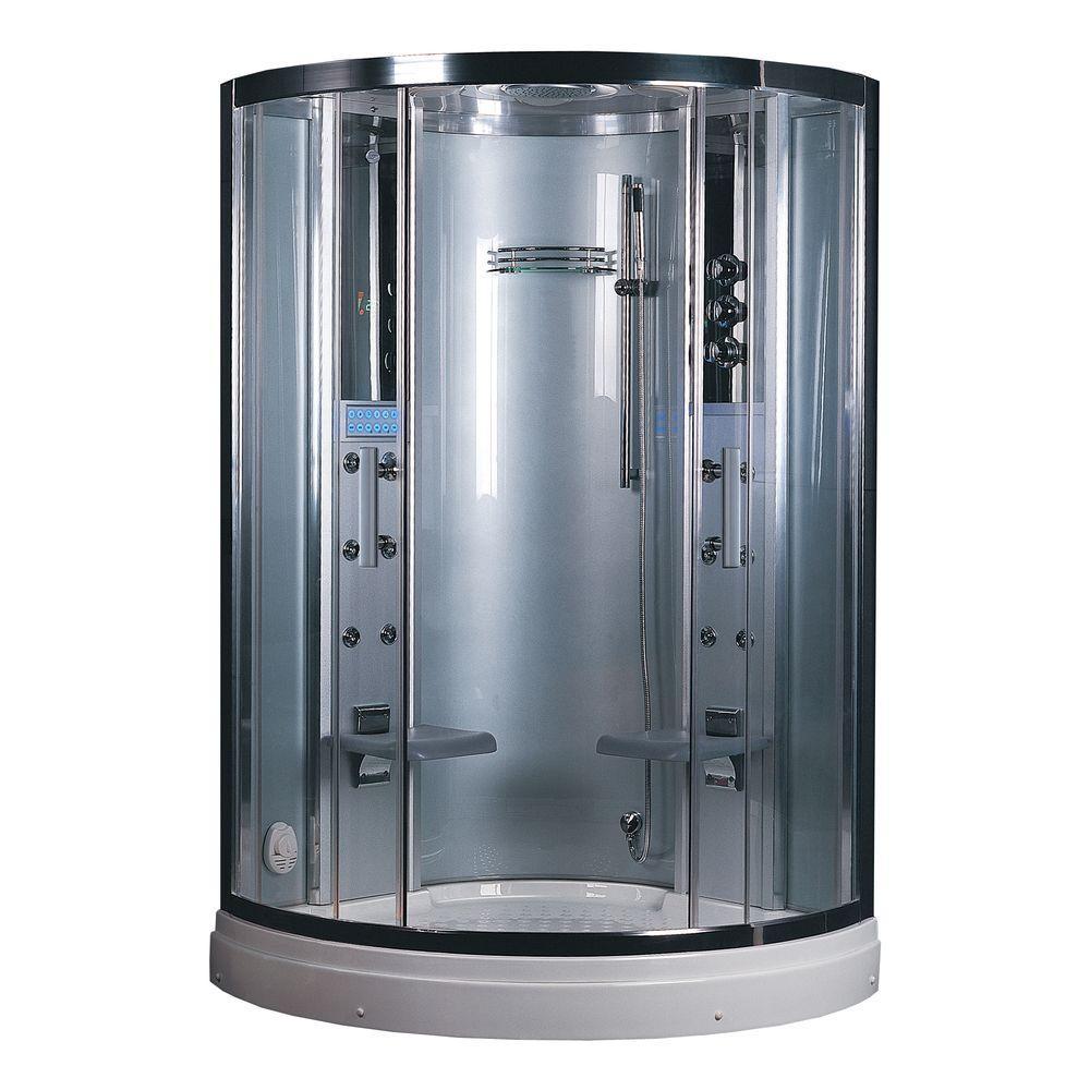 Ariel Platinum 47.2 inch x 87.5 inch x 47.2 inch Steam Shower Enclosure Kit in White by Ariel Platinum