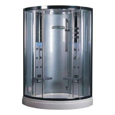 47.2 in. x 87.5 in. x 47.2 in. Steam Shower Enclosure Kit in White