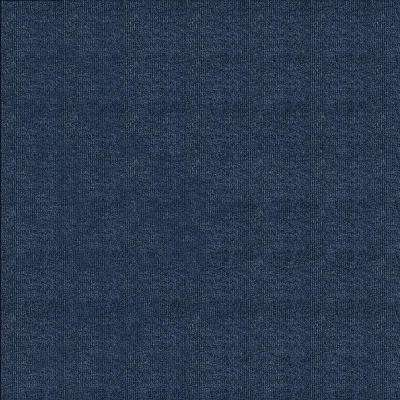 First Impressions Denim Ribbed Texture 24 in. x 24 in. Carpet Tile (15 Tiles/Case)