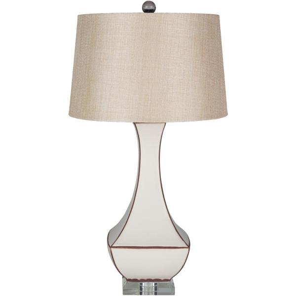Fathullah 30.5 in. Off-White Indoor Table Lamp