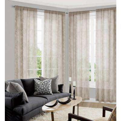 Lolita Taupe Pole Top Panel Pair - 38 in. W x 84 in. L in (2-Piece)