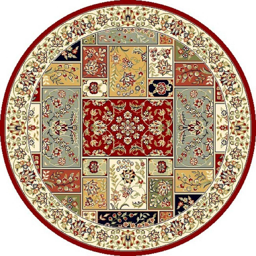 Safavieh Lyndhurst Multi/Ivory 5 ft. 3 in. x 5 ft. 3 in. Round Area Rug