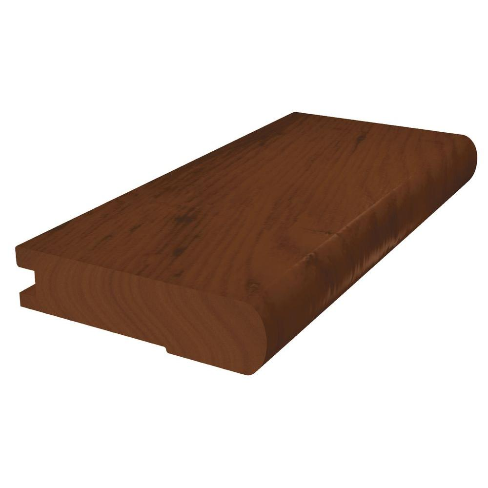Shaw Distressed Hickory Saddle 3.125 Wide x 78 in. Length Stairnose Solid Hardwood Molding-DISCONTINUED