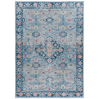 Echelon Niall Blue/Ivory 2 ft. 2 in. x 3 ft. 2 in. Accent Rug