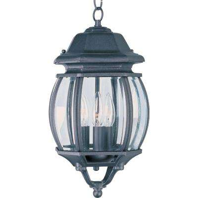 Crown Hill Black 3-Light Outdoor Hanging Lantern