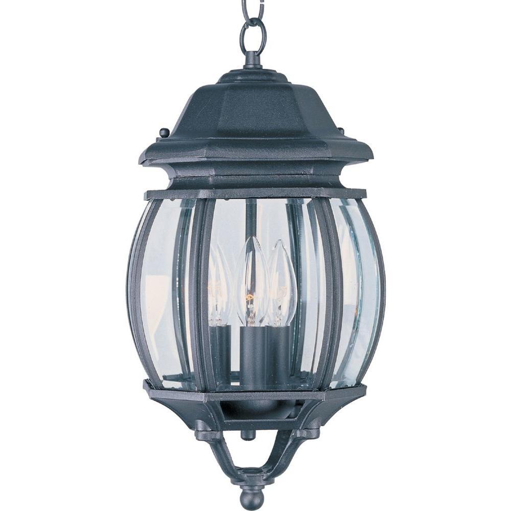 Crown Hill Black 3-Light Outdoor Hanging Lantern
