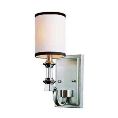 Stewart 1-Light Brushed Nickel Incandescent Sconce