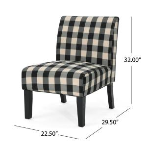 Super Noble House Kassi Traditional Farmhouse Black Checkerboard Theyellowbook Wood Chair Design Ideas Theyellowbookinfo