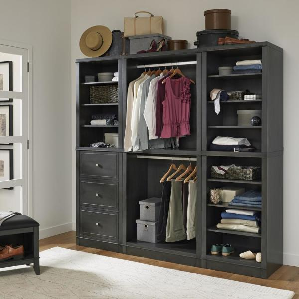 Home Styles 5th Avenue 3-Piece Closet Wall Storage Units 5436-7567