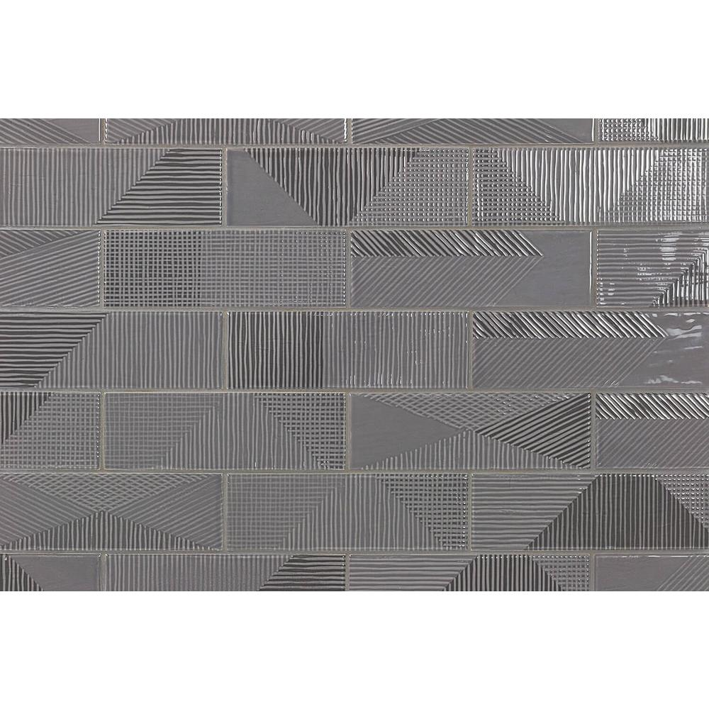 Ivy Hill Tile Ace Dark Gray 2 in. x 8 in. x 9mm Polished Ceramic Subway Wall Tile (76 pieces / 10.76 sq. ft. / box)
