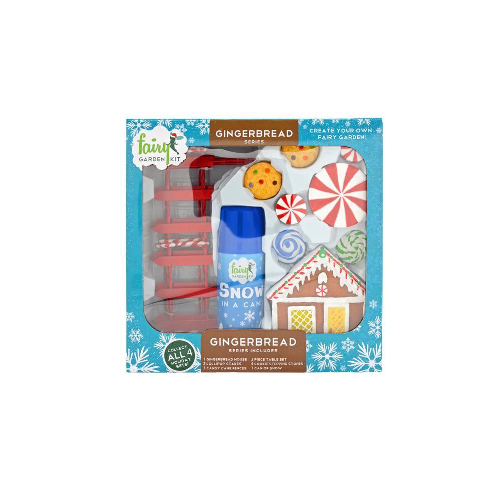 Gingerbread Polyresin Fairy Garden Kit (14-Piece)