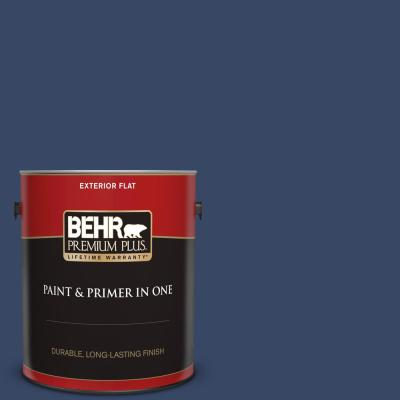 Behr Premium Plus 1 Gal M370 2 Cabbage Leaf Flat Exterior Paint And Primer In One 405001 The Home Depot