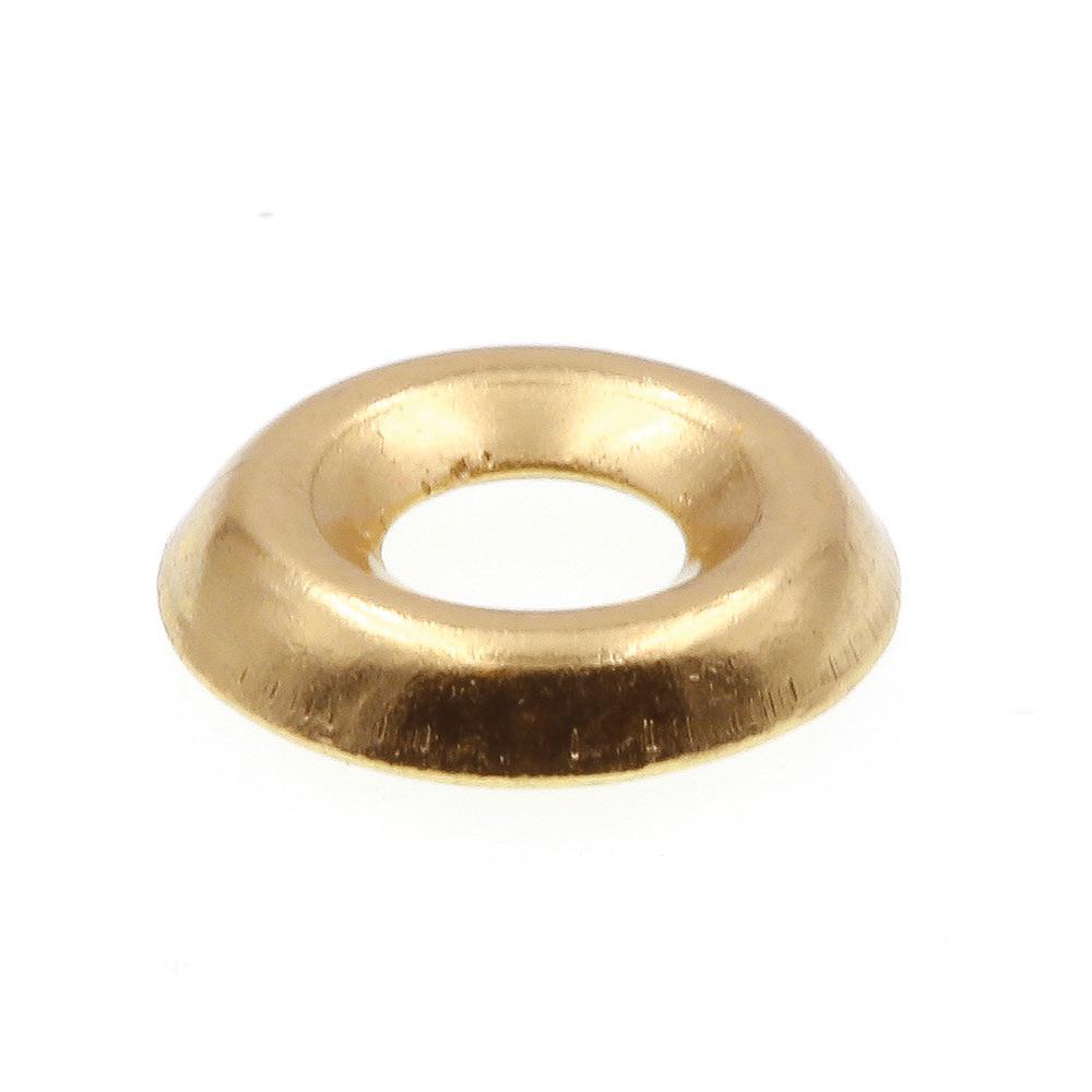 Brass #6 150 pcs Countersunk Finishing Cup Washers