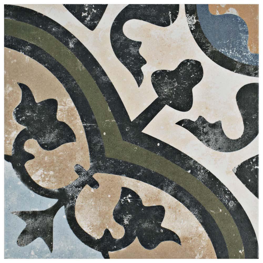 Merola tile evoque carthusian 9 3 4 in x 9 3 4 in for 10 x 10 ceramic floor tile