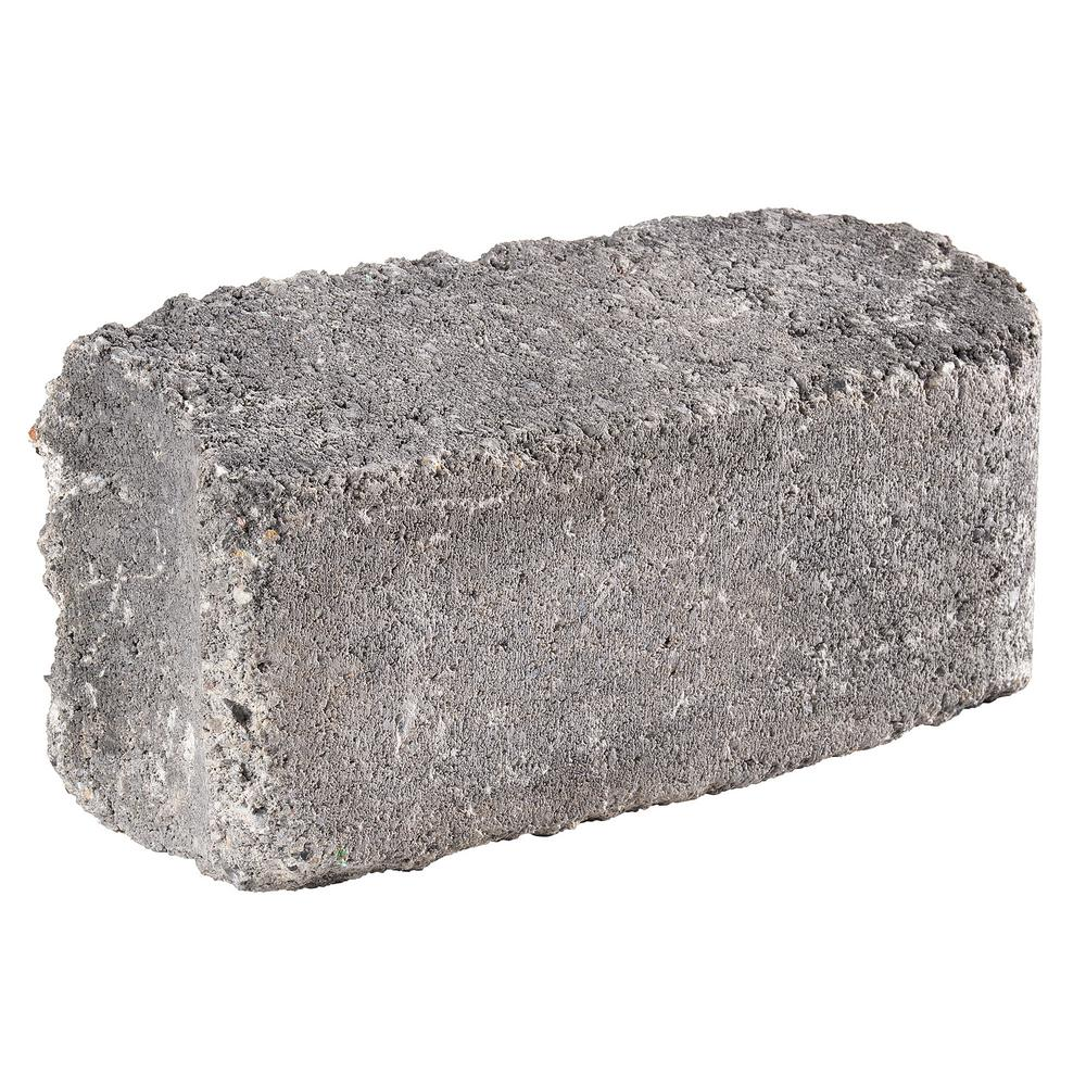 Pavestone RumbleStone 10.5 in. x 3.5 in. x 5.25 in. Greystone Concrete Edger (144 Pcs. / 125 Lin. ft. / Pallet)