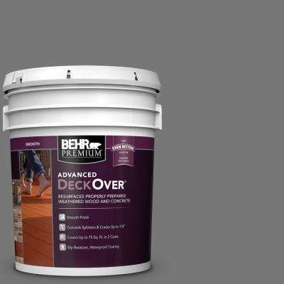 5 gal. #PFC-63 Slate Gray Smooth Solid Color Exterior Wood and Concrete Coating