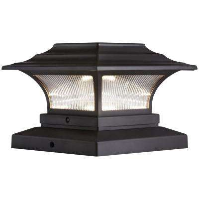 Solar 4 In X Bronze Outdoor Integrated Led Deck Post Light With