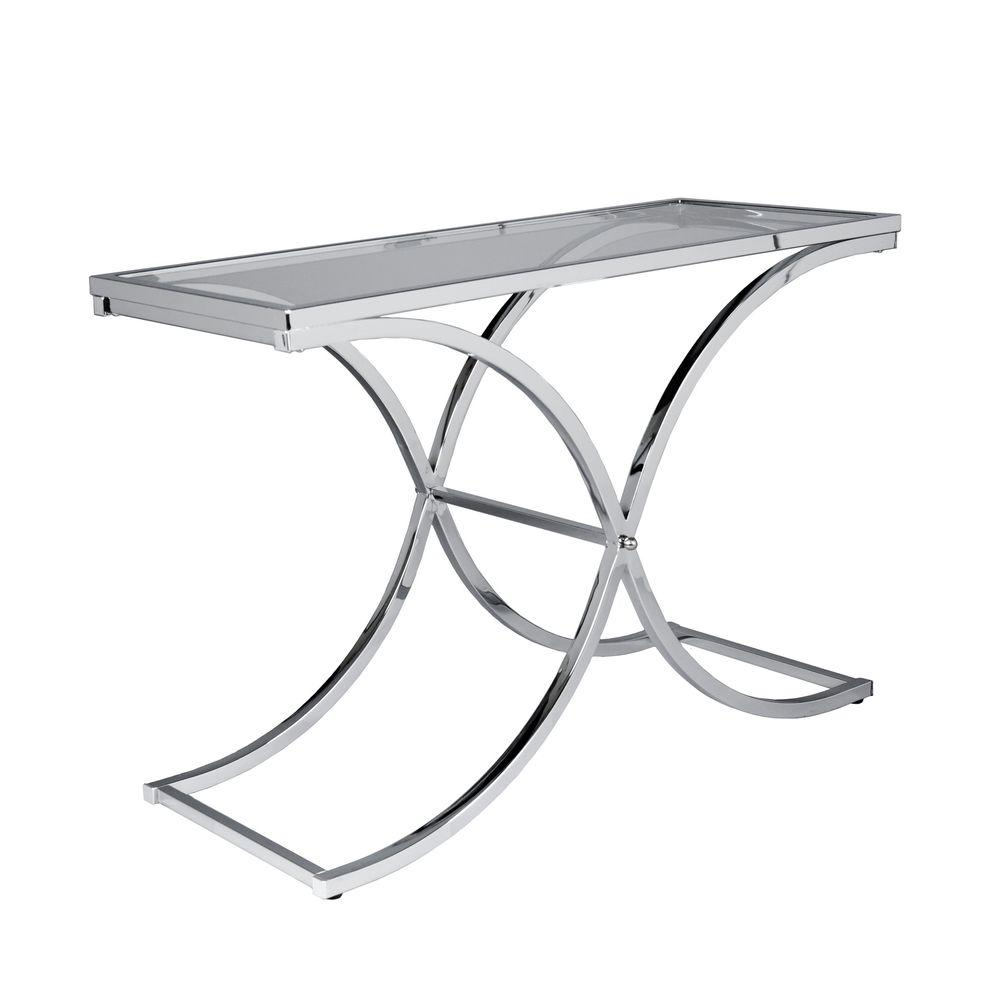 Home Decorators Collection Vogue Rectangle Chrome Sofa Table-DISCONTINUED