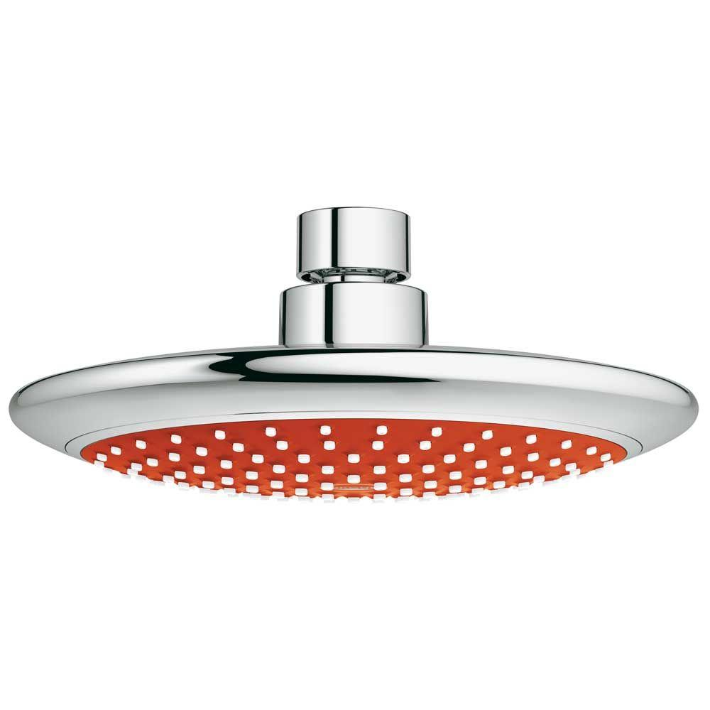 GROHE Rainshower Solo Red 1-Spray Fixed Shower Head in StarLight Chrome