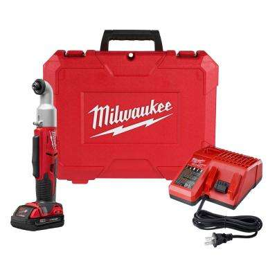 M18 18-Volt Lithium-Ion Cordless 1/4 in. 2-Speed Right Angle Impact Driver Kit w/(1) 1.5Ah Batteries, Charger, Hard Case
