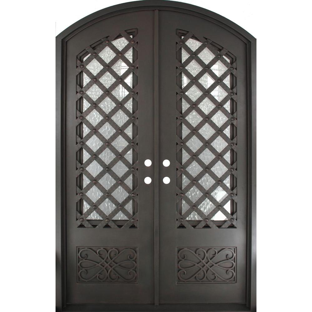 Iron Doors Unlimited 62 in. x 97.5 in. Luce Lattice Classic 3/4  sc 1 st  The Home Depot : doors unlimited - pezcame.com
