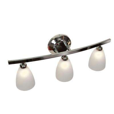 Sydney 3 Light Chrome Vanity Light with Frosted Glass Shade