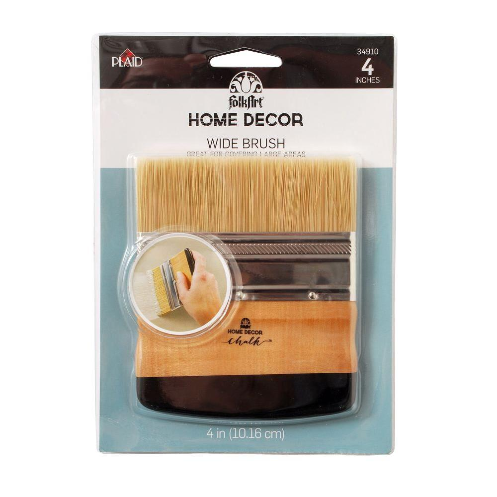 FolkArt Home Decor 4 In. Chalk Finish Wide Brush