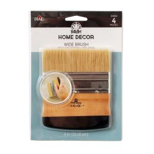 Click here to buy FolkArt Home Decor 4 inch Chalk Finish Wide Brush by FolkArt.