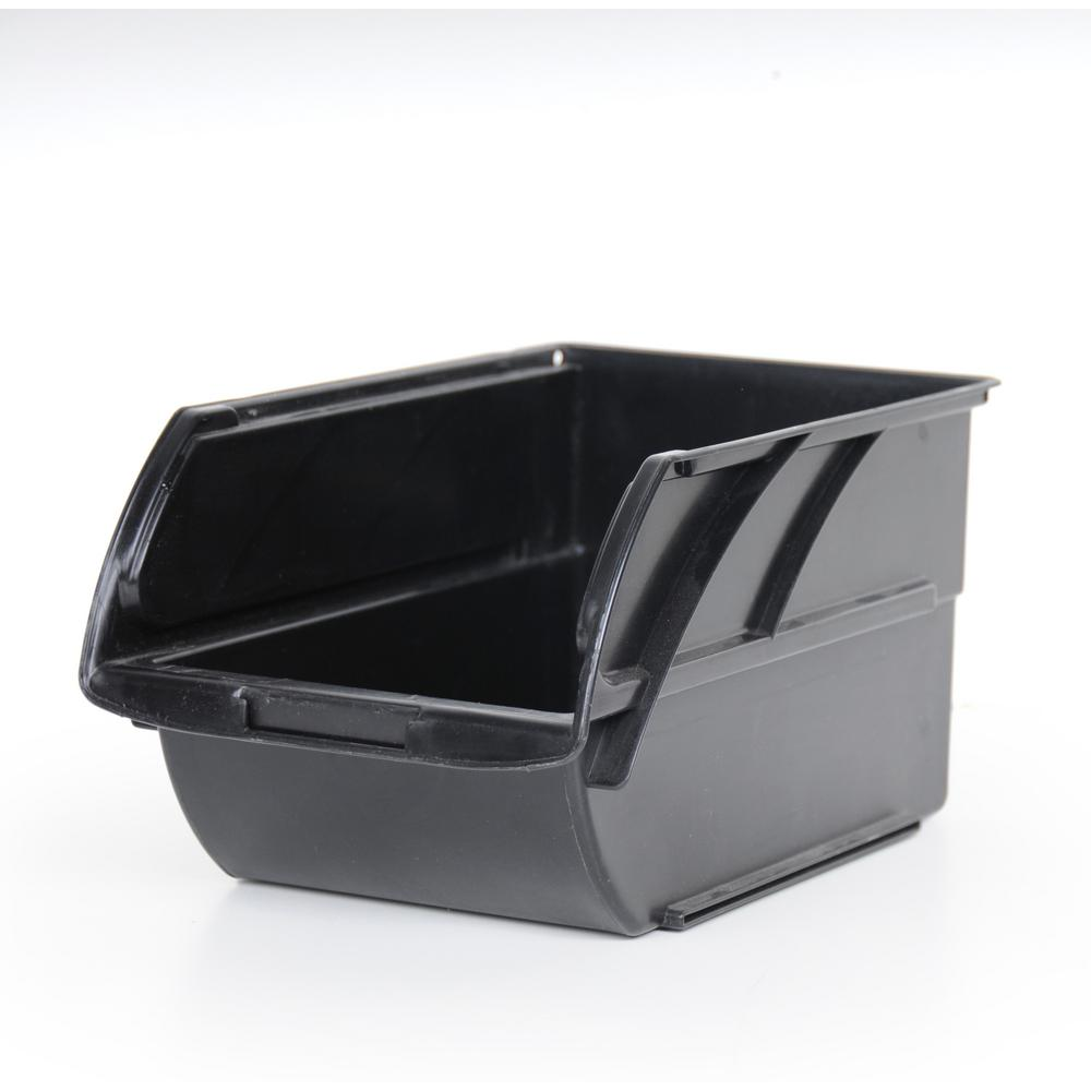Stackable Storage Bin, Black