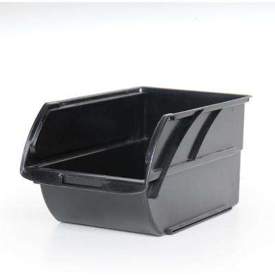 Number-5 10 in. Stackable Storage Bin, Black
